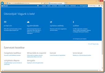 Office 365 Kisvállalati prémium kezdőlap