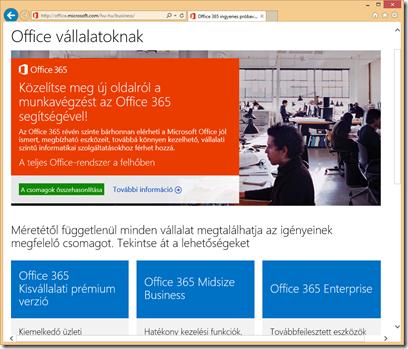 Office 365 üzleti előfizetések